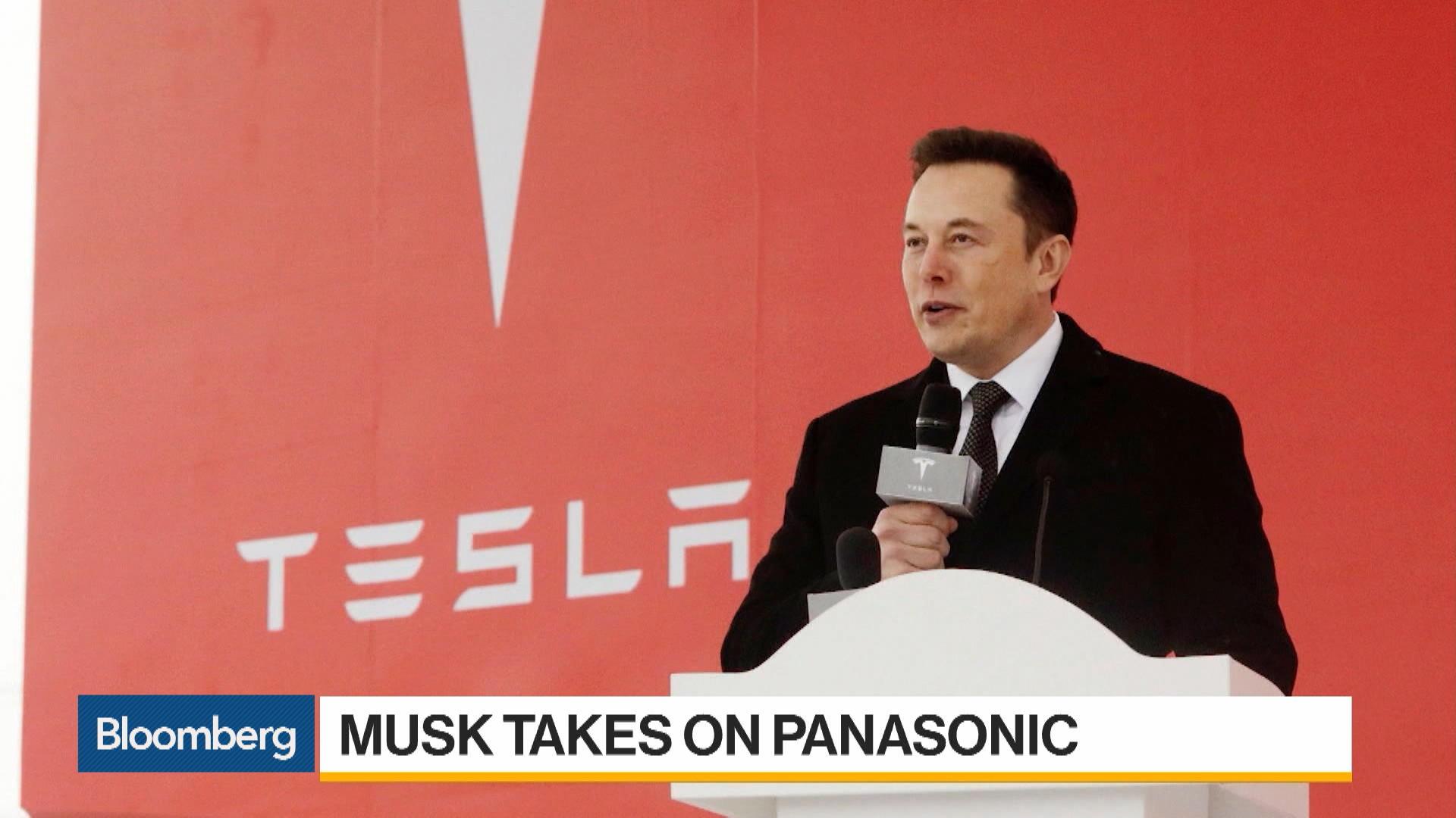Musk Takes Aim at Panasonic Over Tesla Battery Production