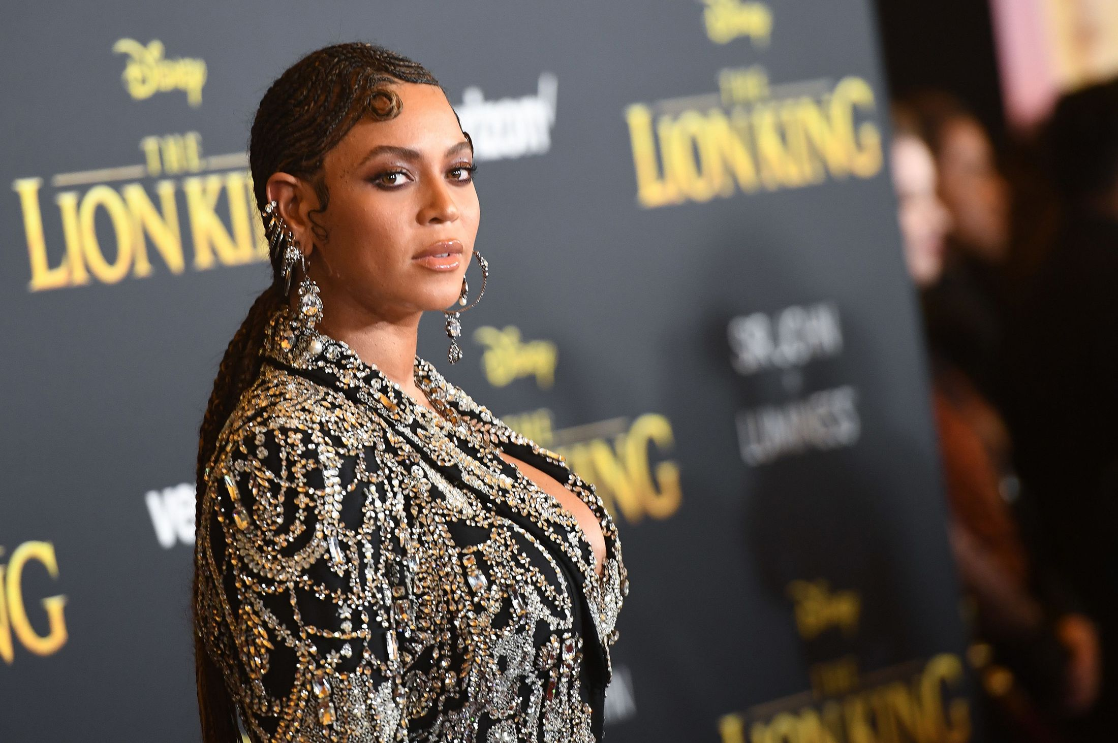 Beyonce at The Lion King premiere in Hollywood.