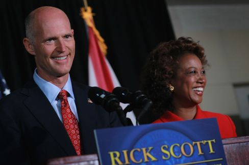 Florida Gov. Rick Scott & Lieutenant Gov. Jennifer Carroll