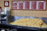 Mound of French Fries in Restaurant, Antwerp, Belgium