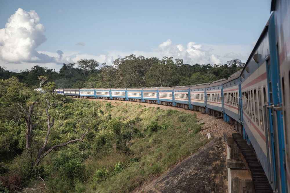 The Tazara railway runsfrom Lusaka to Dar es Salaam, Tanzania. It wasChina's first foreign aid project.