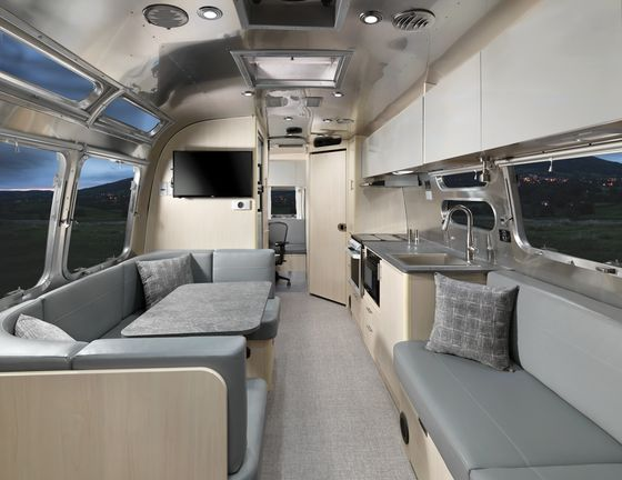 Airstream's New Trailer Comes With Beds That Transform Into an Office