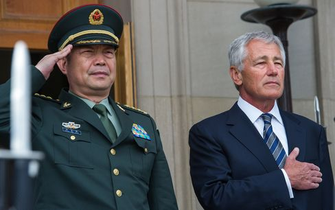 China's General Chang Wanquan &U.S Defense Secretary Chuck Hagel