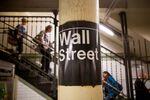 The Wall Street subway sign
