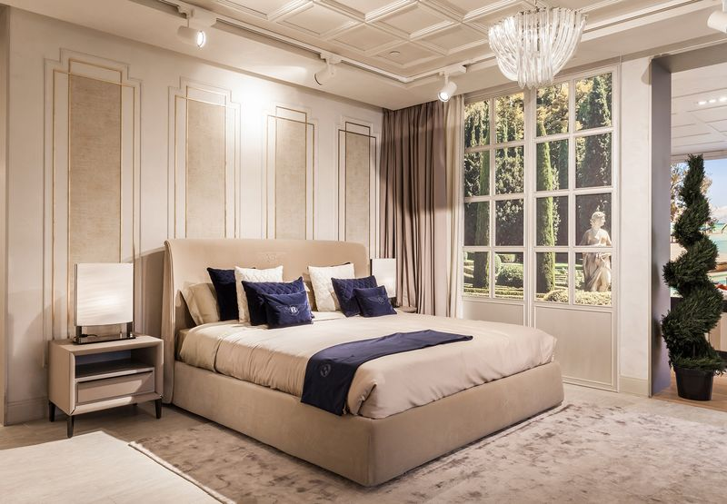 The Shape Of The Berkeley Bed Is Set By The Rear Contour Of Its Headboard.