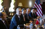 Liu He, center left, listens during trade talks between the U.S. and China in Washington, D.C., on Jan. 30.