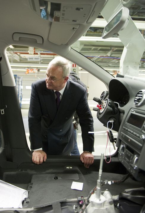 Martin Winterkorn, chief executive officer of Volkswagen AG
