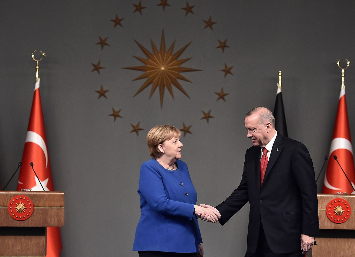Frailty of Libya Accord on Display In Merkel-Erdogan Squabble