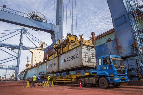 Kirshnapatnam port in Andhra Pradesh, India