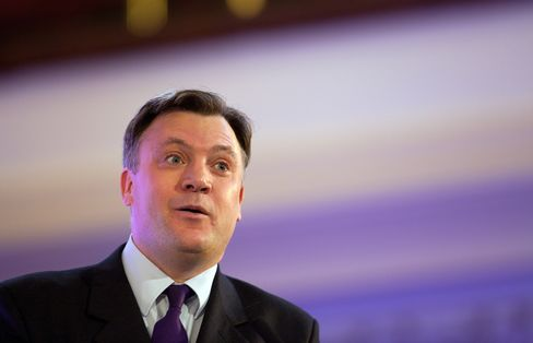 U.K. Opposition Labour Party Treasury Spokesman Ed Balls