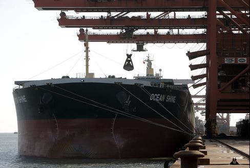 Iron-Ore Ships Rebounding as China Spends $158 Billion