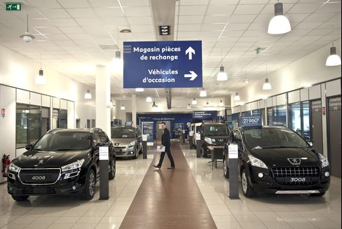 Jobless Parisians Mean Fewer Peugeots in Slumping France