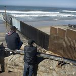 A section of the border wall that separates the U.S. and Mexico in Tijuana, Mexico, on Jan. 25, 2017.