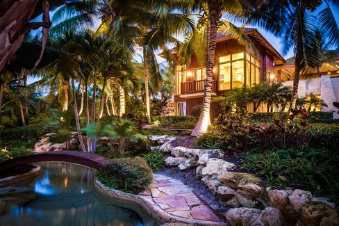 The landscaping and water features are as lush as the Palm Beach County location.
