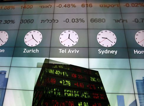 The Tel Aviv Stock Exchange.