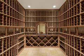 There's a 1,000-bottle wine cellar.