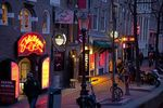 Amsterdam's famed red light district.