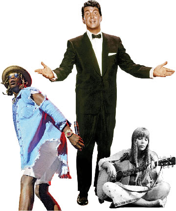 """Artists that have a """"voice within the voice"""": Young Thug (No F---s), Joni Mitchell (Big Yellow Taxi, In France They Kiss on Main Street), and Dean Martin (If, Just in Time)"""