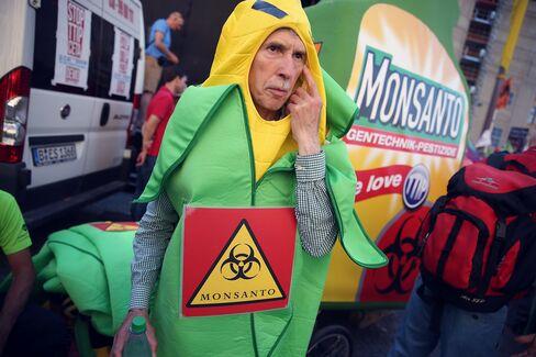 An anti-Monsanto activist in Munich.