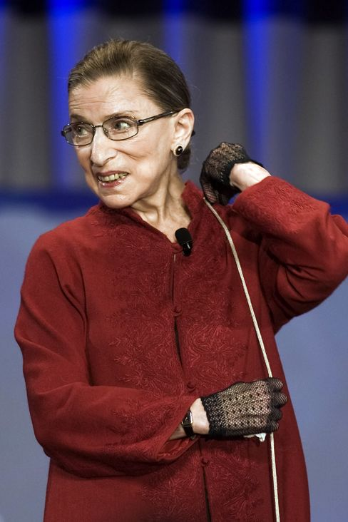 Ginsburg Whisper Carries Weight in Court Gay-Marriage Arguments