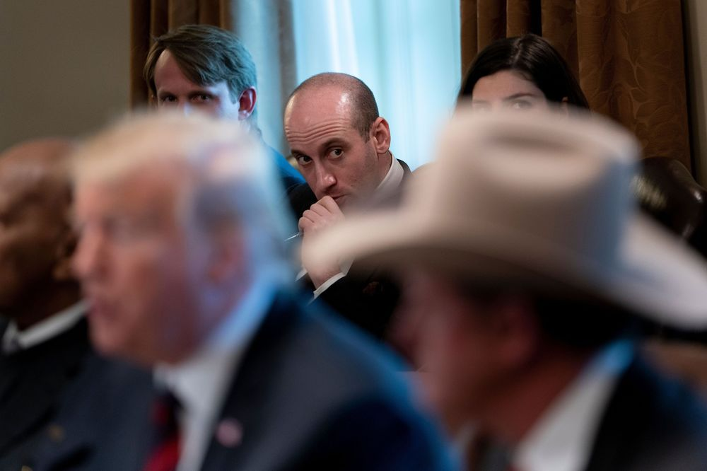 Image result for photos of trump stephan miller mulvaney mcconnell vp pence