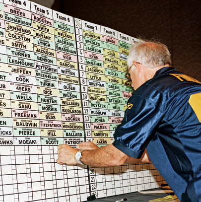 A high-stakes Stats draft board at the Bellagio