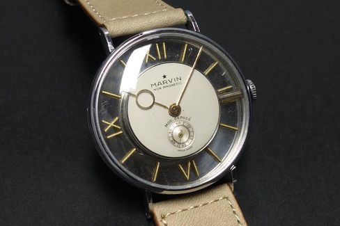 This watch is skeletonized around the movement instead of through it.