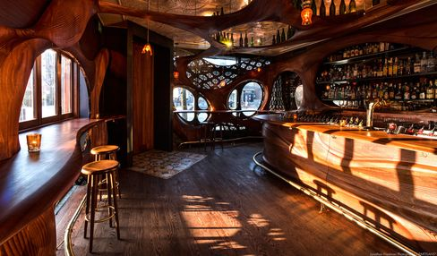 Bar Raval's Gaudi-style interior complements some of the best tapas in North America.