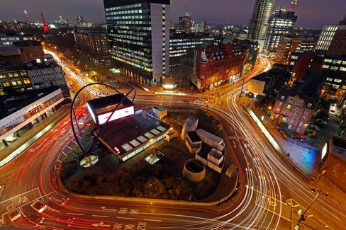 General Views Of London's Old Street Silicon Roundabout