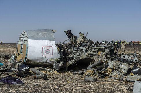 Russian jet crash debris