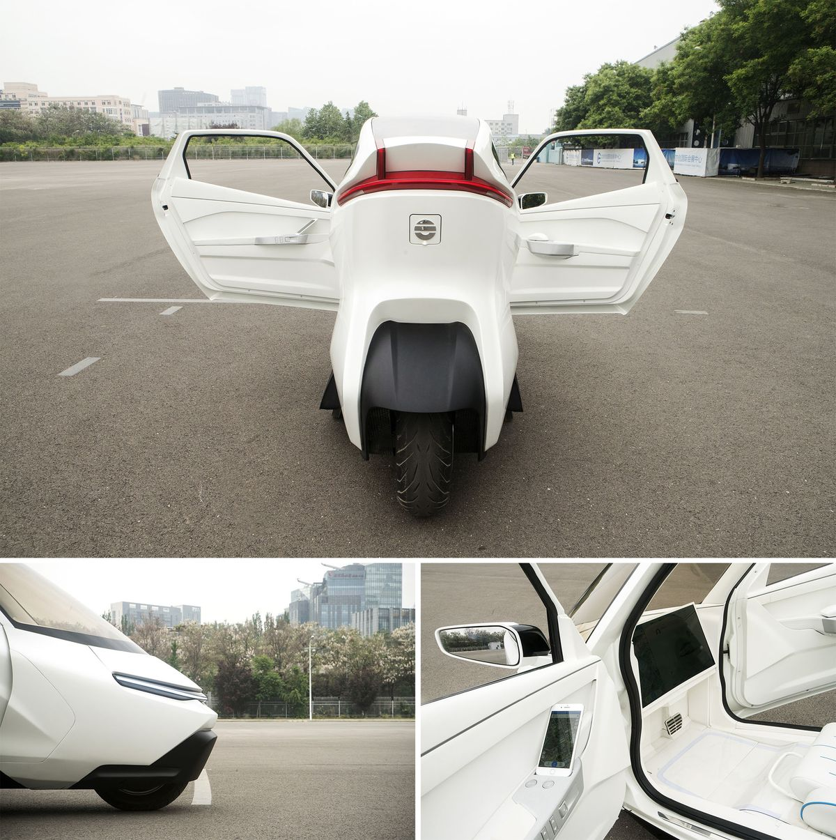 Relates To The Two Wheeled Electric Car Of Future Is Being Tested In China