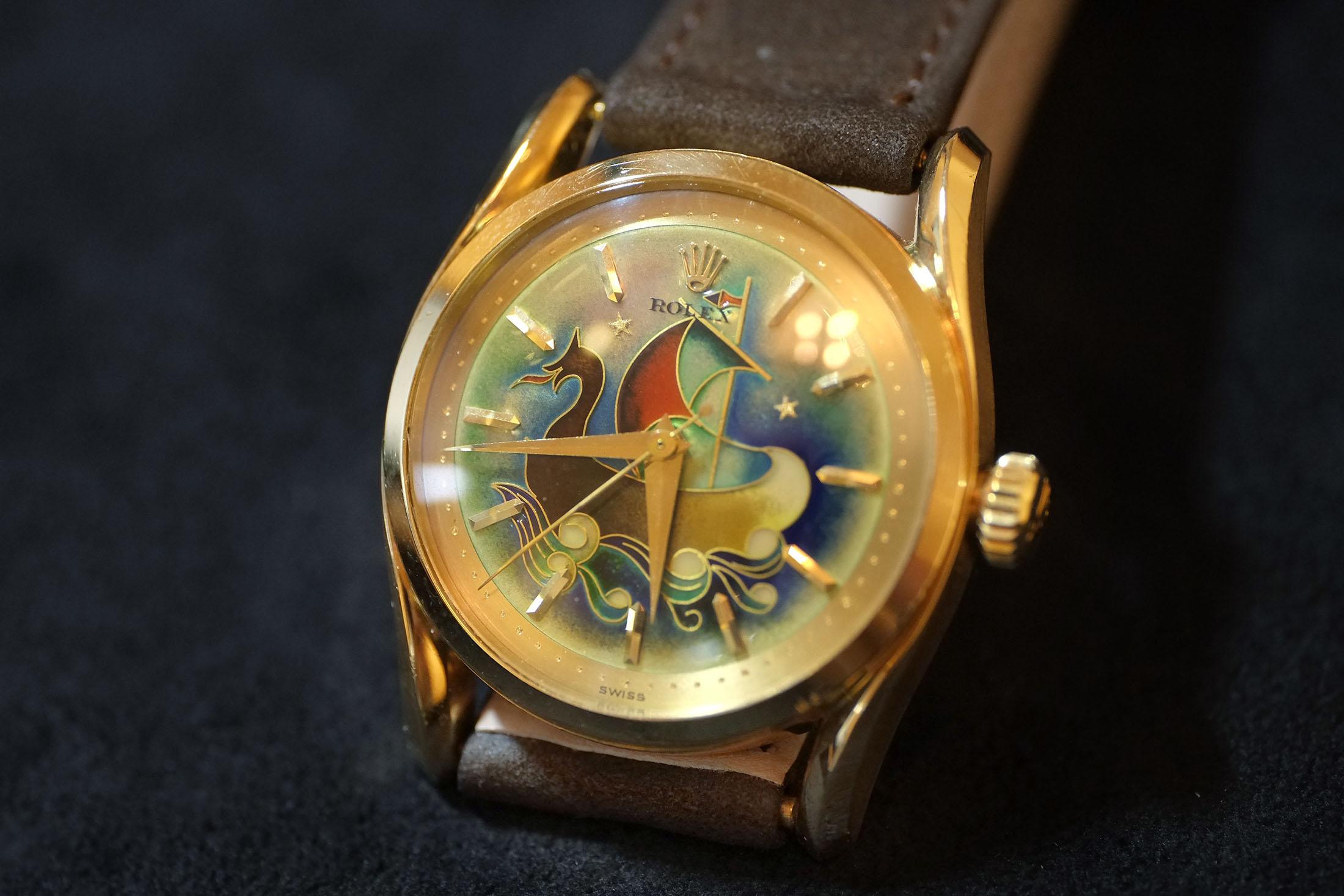 Rolex Caravel Enamel Watch (Lot 162)