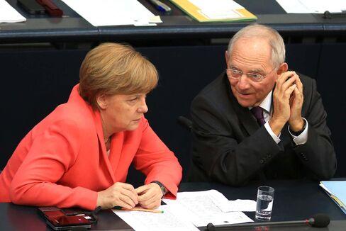 Angela Merkel and Wolfgang Schaeuble