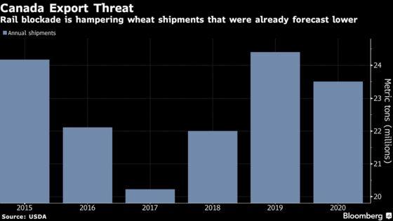 Rail Blockade Sparks 'Uncharted' Logjam for Canada Grain Exports