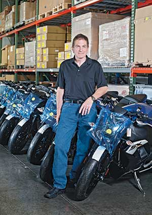 High-End Motorcycles Meet India's Mopeds