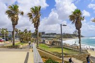 TEL-AVIV, ISRAEL - MAY 27, 2016: View of Givat Aliyah beach and nearby area, with locals and visitors, in the southern part of Jaffa, Now part of Tel-