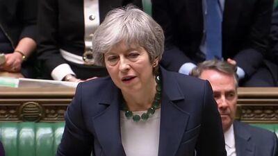 """相关英国众议院""""非协议撤回""""拒绝 - 总理撤回提案,由20日重新决定"""