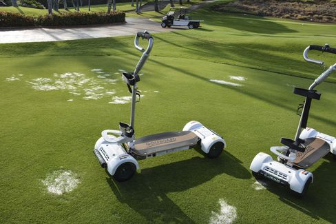 $6,500 Golf Boards (developed by Laird Hamilton and Bally Fitness founder Don Wildman) offer a more thrilling way to get around.