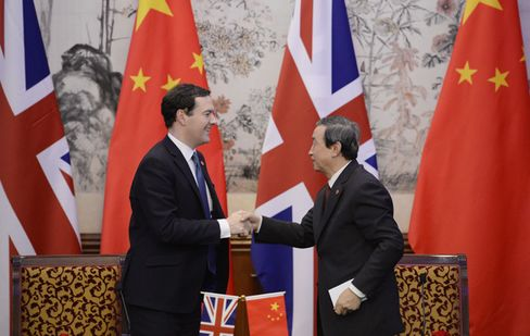 Chancellor of the Exchequer George Osborne in China