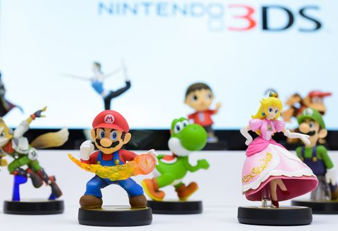 Character figures from the Nintendo Co. Amiibo video game are displayed at the Nintendo Game Front showroom in Tokyo, Japan. Photographer: Akio Kon/Bloomberg
