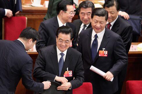 Xi Jinping With President Hu Jintao