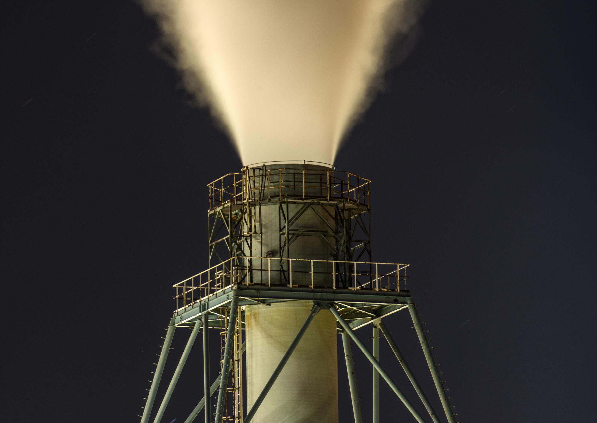 Night Views Of JXTG Nippon Oil & Energy Corp. Muroran Petrochemical Plant