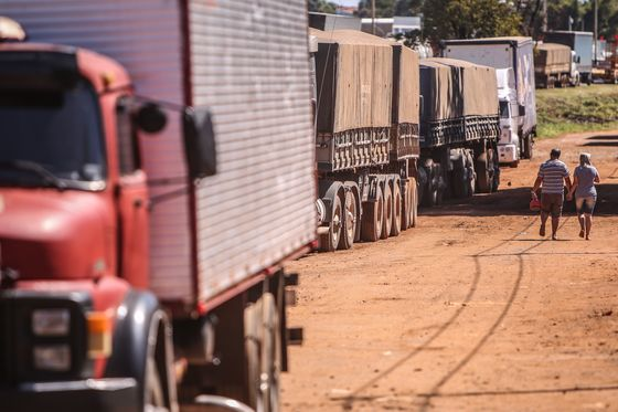 Bolsonaro Calls on Truckers to Lift Protests Blocking Roads