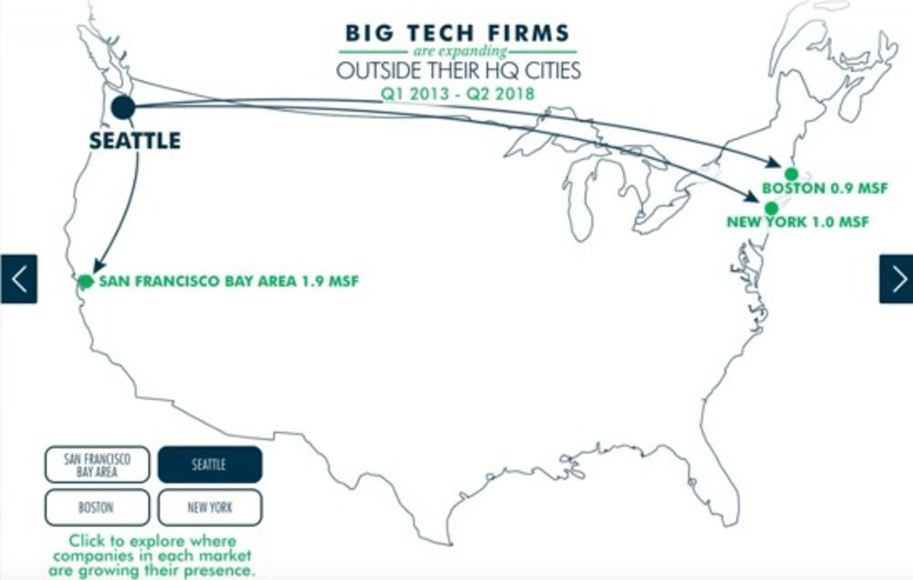 Where Tech Companies Are Expanding Beyond Amazon Hq2 Bloomberg New york county, new york, united states, north america geographical coordinates: where tech companies are expanding