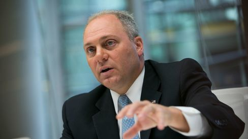 House Majority Whip Steve Scalise, a Republican from Louisiana, speaks during an interview in New York, U.S., on Wednesday, Oct. 8, 2014.