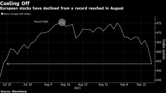 European Stocks Drop Most in Two Months on China, Fed Concerns