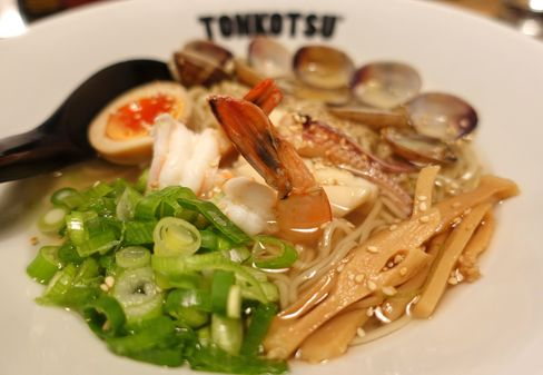 Seafood ramen at Tonkotsu.