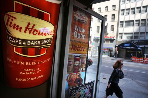 Tim Horton's cafe in Manhatta
