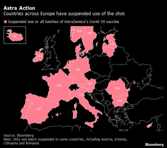 EU Health Ministers Debate Astra Shot After Halting Vaccine