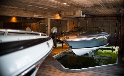 A boat house of one of the cottages on Lake Jo in the Muskoka region. Photographer: James MacDonald/Bloomberg